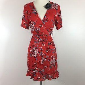 ASOS NwT Red Mini Wrap-Style Dress - Size Small